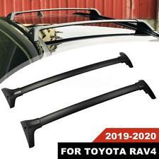 For Toyota RAV4 2019-2020 Roof Rack Cross Bar Top Carrier Aluminum Black New