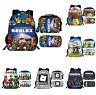 ROBLOX School Backpack 3PCS Schoolbag Set Bookbag Lunch Bag Pen Bag Lot Gift