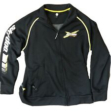Ski-Doo Light Jacket Full Zip Snowmobile Racing Team Rev Xp Black Large 453317