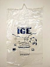 Clear 8 LB / LBS Plastic Ice Bag Bags with Drawstring Pack of 100 Free Shipping