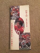 1981 OHIO STATE COLLEGE FOOTBALL BOOK MEDIA GUIDE B0X7