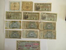 Lot of Foreign Currency, Allied Military dated btwn 1945-1951