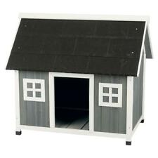 Barn Style Dog House Weatherproof Elevated Pet Shelter Home Indoor Outdoor Use