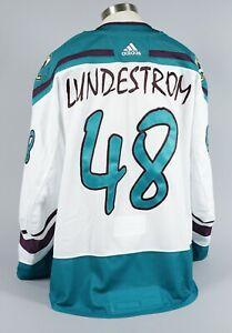 2020-21 Isac Lundestrom Anaheim Ducks Game Worn Reverse Retro Jersey Set 2