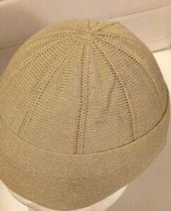 Beige Turkish Men,s Prayer hat, islamic Boy,s childrens Mosque hat, topi,