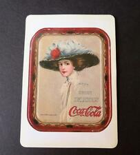 "Vtg ""The Coca Cola Girl"" Magnetic Card by Hamilton King from 1910 Serving Tray"
