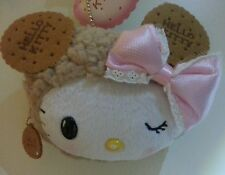 """NWT Hello Kitty Cookie Biscuit large 8""""x5"""" Purse Clutch Wallet Coin Bag Cute Gif"""