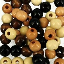 Unpainted Natural 2nd B17 1000pcs 10mm x 9mm WOODEN Round Spacer Beads