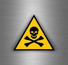 Sticker decal car vinyl jdm bomb tuning poison skull warning danger bumper