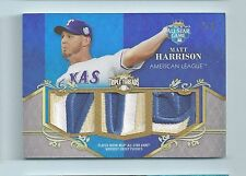 MATT HARRISON 2013 TRIPLE THREADS ALL-STAR GAME 13 COLOR TRIPLE PATCH /9