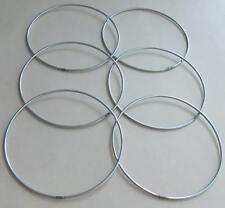 """6 x 5"""" metallo forte ACCHIAPPASOGNI/dedicarmi al macramè Craft Cerchio/Anello & Free cavo di cotone"""