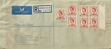 GB QE II 4 1/2 d Wildling x 7 on commercial first day cover.