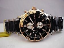 Invicta Men's Sea Spider 50mm Chrono Gold Tone Black Dial Poly SS Bracelet Watch