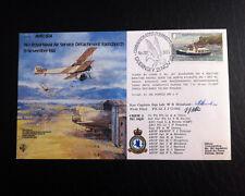 RAF B2 Flown & Signed FDC - AVRO 504 - Henshaw & Collis (AFTAL)