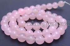 "SALE High quality Round 8mm Pink jade gemstone beads strands 15""-los511"