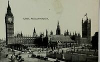 Black and White Postcard London House of Parliament Vintage Real Picture Photo