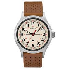 Reloj para hombres Timex Todd Snyder Militar Correa De Cuero Esfera Crema Bronceado TW2T82500JR