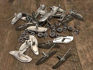 "25pcs door body moulding trim clips for 1-1/2"" moulding ss nut Fits dodge"