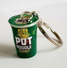 Miniature Novelty Pot Noodle Chicken & Mushroom Keyring/Bag Charm