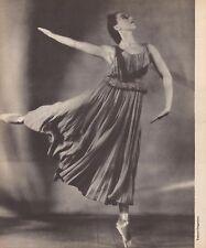 """TAMARA GRIGORIEVA in """"Les Presages"""" Original Halftone Ballet Russe 1948"""