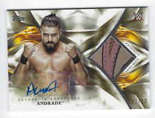 ANDRADE 'CIEN' ALMAS 2019 TOPPS WWE UNDISPUTED AUTHENTIC SHIRT RELIC AUTO /10