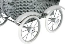 Legler Gray Wicker Work Doll's Pram Color Grey 8771