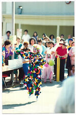 Vintage 80s PHOTO Clown Dancing At Halloween Gathering & Woman w/ Camera