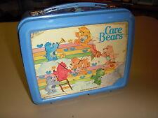 1980's Vintage Retro Care Bears Plastic Lunchbox Kit Pail (Aladdin)