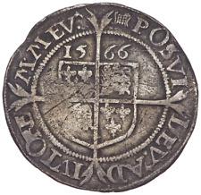 ENGLAND. Elizabeth I. 1558-1603. Silver Sixpence, Dated 1566