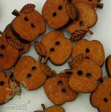 10 pcs Wooden Buttons Fruit 15x16mm Craft/Kids Sewing Cards Decoration