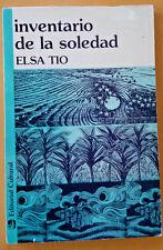 Inventario de la Soledad de Elsa Tio puerto Rico Editorial Cultural 1987
