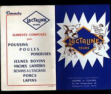"""TOURS (37) USINE d'ALIMENTS pour ANIMAUX à base de LAIT """"LACTALINE"""" CATALOGUE"""