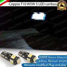LAMPADE LUCI TARGA NISSAN MICRA II CANBUS T10 W5W 5 LED ALTA LUMINOSITA' 6000K