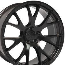 "20"" Hellcat Style Black Wheels For Dodge Charger SRT8 Magnum Challenger Rims Set"