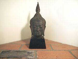 Old China iron Buddhism Shakyamuni Amitabha Sakyamuni Buddha Head Statue