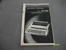 Sharp zx-330 instruction manual Copy