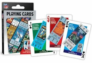 NFL FOOTBALL SUPER BOWL TICKET POKER SIZE  PLAYING CARDS-NEW!