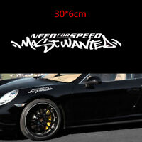 Need For Speed Scratch Car Auto Truck SUV Window Vinyl Sticker Decal JDM White