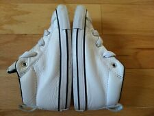 Toddler CONVERSE ALL STAR WHITE LEATHER HIGH-TOP SHOES CHUCK TAYLOR SIZE 9