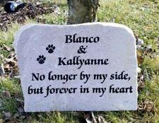 11 x 8 Personalized Engraved Dog Cat Pet Memorial Rock Garden Stone