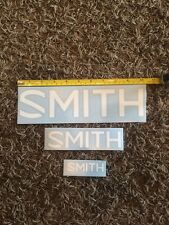 """3 Smith Optics White Stickers Large Aprox 10.5"""" Med Aprox 6.5"""" Small Aprox 3.5"""""""
