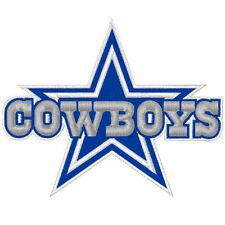 Football fan Patch dallas cowboys ca 10 x9 cm