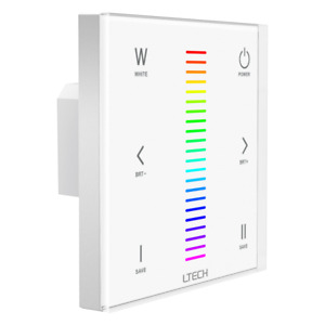 LTECH LED Wandschalter EX4 2,4 GHz - DMX - 100-240V AC - RGB+W