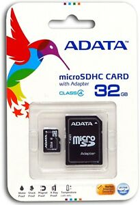 32GB MicroSD Micro SD Card TF Flash Memory Card 32 GB G 32G ADATA Class 4