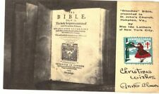 OLD POSTCARD BREECHES BIBLE ST JOHN'S CHURCH HAMPTON VIRGINIA IDA LATHERS 1935