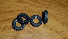 DINKY SUPER TOYS  4  25MM BLACK RUBBER  TIRES FITS #S 980 285 AND MORE