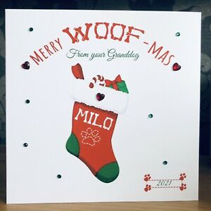 Personalised Christmas Card Dog Card From The Dog Dog Dad Dog Mum Grand Dog 🐾