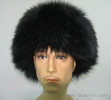 UZBEK TURKMEN CAUCASUS TRADITIONAL LONG FUR HAT-TELPAK, PAPAHA BLACK COLOR #6997