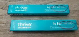 New Thrive Causemetics Lip Filler Lip Liner Devin Black Cherry Full Size QTY 2