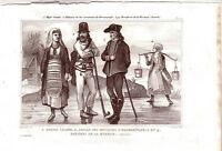 Kroatien Mähren Hermannstadt Trachten Kostüme Orig Stahlstich 1850 Pardinel